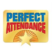 Perfect Attendance Starburst Design Lapel Pin