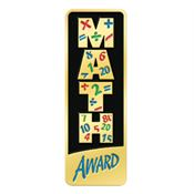 Math Award Rectangle Lapel Pin