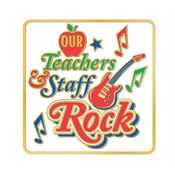 Our Teachers & Staff Rock Lapel Pin With Presentation Card