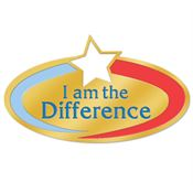 I Am The Difference Lapel Pin With Presentation Card