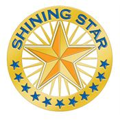 Shining Star Lapel Pin With Presentation Card