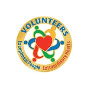 Volunteers: Exceptional People Extraordinary Hearts Lapel Pin With Card