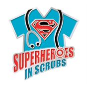 Superheroes In Scrubs Lapel Pin With Presentation Card