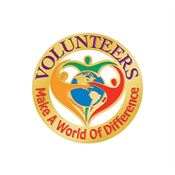 Volunteers Make A World Of Difference Lapel Pin With Presentation Card