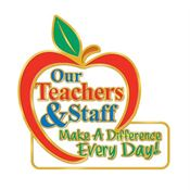 Our Teachers & Staff Make A Difference Every Day! Lapel Pin With Presentation Card