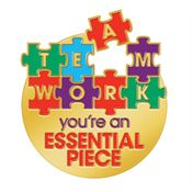Teamwork You're An Essential Piece Lapel Pin With Card