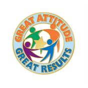 Great Attitude Great Results Lapel Pin With Card