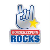 Housekeeping Rocks Lapel Pin