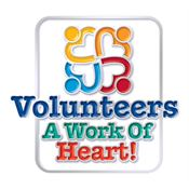 Volunteers A Work Of Heart! Lapel Pin With Presentation Card