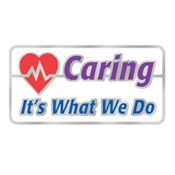 Caring It's What We Do Lapel Pin With Presentation Card