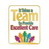 It Takes A Team To Provide Excellent Care Lapel Pin With Presentation Card