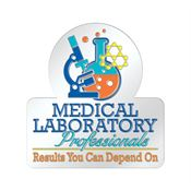 Medical Laboratory Professionals Results You Can Depend On Lapel Pin With Presentation Card