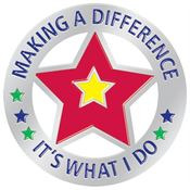 Making A Difference It's What I Do Lapel Pin With Presentation Card