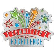Committed To Excellence Lapel Pin With Presentation Card