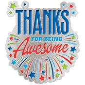 Thanks For Being Awesome Lapel Pin With Presentation Card