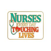 Nurses: Every Day Touching Lives Lapel Pin With Presentation Card