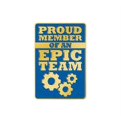 Proud Member Of An Epic Team Lapel Pin With Presentation Card