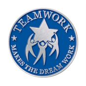 Teamwork Makes The Dream Work Lapel Pin With Presentation Card