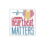 Every Heartbeat Matters Women's Heart-Health Awareness Lapel Pin & Presentation Card