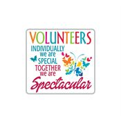 Volunteers: Individually We Are Special, Together We Are Spectacular Lapel Pin With Presentation Card