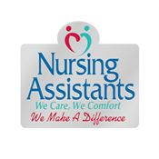 Nursing Assistants: We Care, We Comfort, We Make A Difference Lapel Pin With Presentation Card