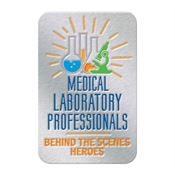 Medical Laboratory Professionals: Behind The Scenes Heroes Lapel Pin With Presentation Card