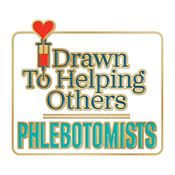 Phlebotomists: Drawn To Helping Others Lapel Pin With Presentation Card