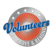 Volunteers Go Above & Beyond Lapel Pin With Presentation Card