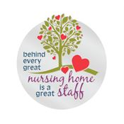 Behind Every Great Nursing Home Is A Great Staff Lapel Pin With Presentation Card