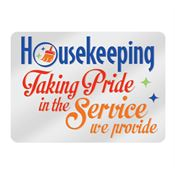 Housekeeping: Taking Pride In The Service We Provide Lapel Pin with Presentation Card