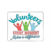 Volunteers: Every Moment Makes A Difference Lapel Pin With Presentation Card