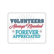 Volunteers: Always Needed, Forever Appreciated Lapel Pin With Presentation Card