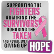 Supporting the Fighters Admiring the Survivors Honoring...Awareness Lapel Pin with Presentation Card