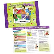 Good Nutrition Starts With MyPlate Laminated Placemat - Personalization Available