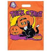 Black Cat Reflective Trick-Or-Treat Bag