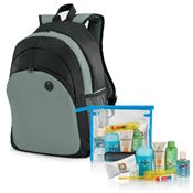 10-Piece Backpack & Hygiene Kit Combo (Gray)