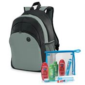 5-Piece Backpack & Hygiene Kit Combo (Gray)