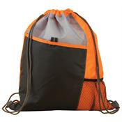 Sport Drawstring Mesh Backpack (Orange)