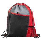 Sport Drawstring Mesh Backpack (Red)