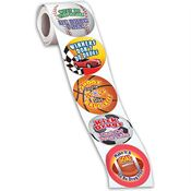 Sports-Themed Anti-Drug Stickers-On-A-Roll
