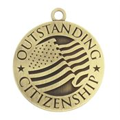 Outstanding Citizenship Gold Academic Medallion