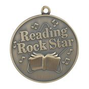 Reading Rock Star Gold Academic Medallion