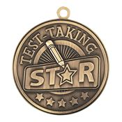 Test-Taking Star Gold Academic Medallion