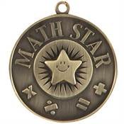 Math Star Gold Academic Medallion