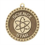 Science Star Gold Academic Medallion