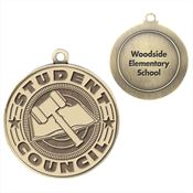 Student Council Gold Academic Medallion - Personalization Available
