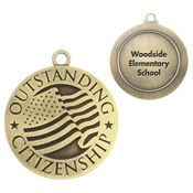Outstanding Citizenship Gold Academic Medallion - Personalization Available