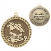 Honor Roll Gold Academic Medallions With Laser Engraved - Personalization Available