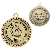 Torch Gold Academic Medallion - Personalization Available