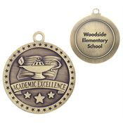 Academic Excellence Gold Academic Medallion - Personalization Available